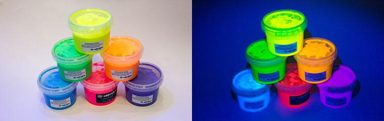 Флуоресцентные краски на акриловой основе