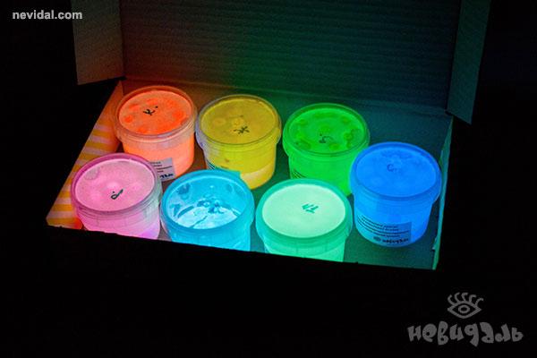 Люминесцентно-флуоресцентные краски